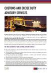 Customs and excise duty advisory services