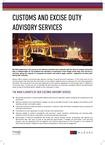 Customs and excise duty services